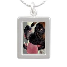 SLOPPY KISS 443 Silver Portrait Necklace