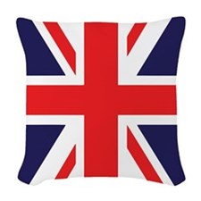 Union Jack Woven Throw Pillow