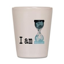 I am wikileaks3 Shot Glass