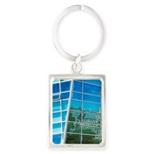 Reflection of Historical Registr Portrait Keychain