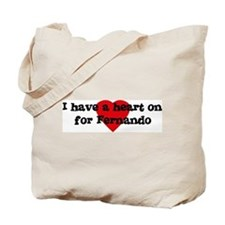 Heart on for Fernando Tote Bag