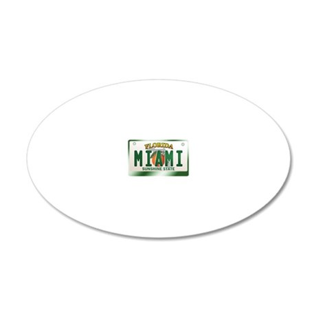 plate-miami 20x12 Oval Wall Decal