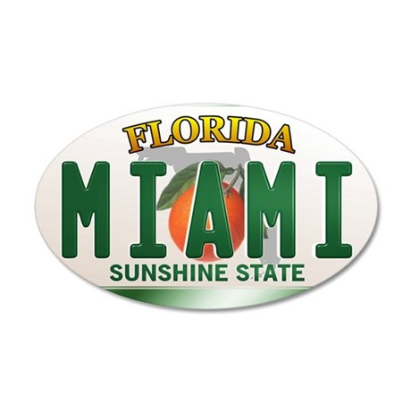plate-miami 35x21 Oval Wall Decal