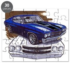 1970 Chevelle Blue-Black Car Puzzle