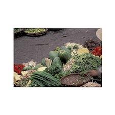 Asia, Vietnam, Saigon. Vegetable  Rectangle Magnet