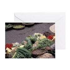 Asia, Vietnam, Saigon. Vegetable mar Greeting Card