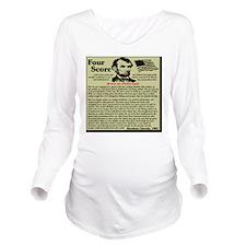 fourscorenew2 Long Sleeve Maternity T-Shirt