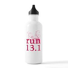 run13_pink_sticker Water Bottle