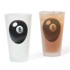 8 ball ornament Drinking Glass