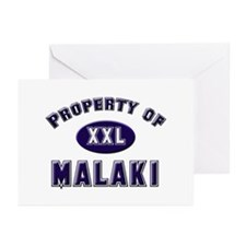 Property of malaki Greeting Cards (Pk of 10)