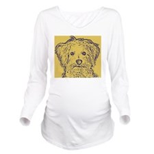 Schnoodle_2tone Long Sleeve Maternity T-Shirt