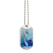 manatees-3-tall Dog Tags