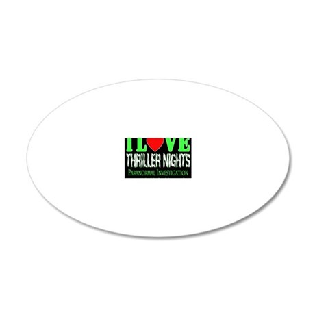 lovethrillernotelet 20x12 Oval Wall Decal