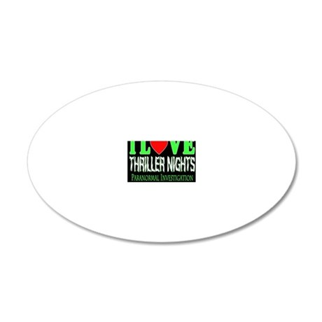 lovethrillermouse 20x12 Oval Wall Decal