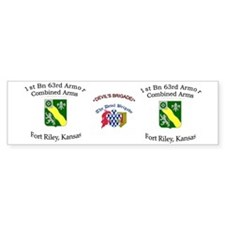 1st Bn 63rd AR mug2 Car Sticker