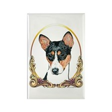 Basenji Christmas/Holiday Rectangle Magnet