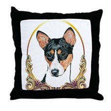 Basenji Christmas/Holiday Throw Pillow
