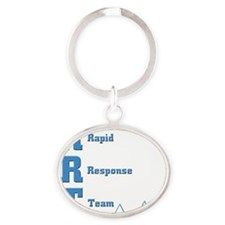 Rapid Response Team Oval Keychain
