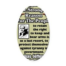 jeffersongunrights8 Oval Car Magnet