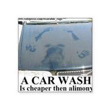 "A CAR WASH2 Square Sticker 3"" x 3"""