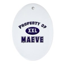 Property of maeve Oval Ornament