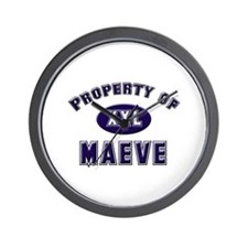 Property of maeve Wall Clock
