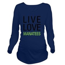 livemanatee Long Sleeve Maternity T-Shirt