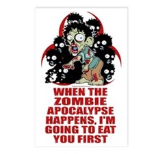 Zombie-Eat-You-First Postcards (Package of 8)