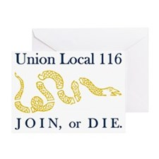 unionlocal116rectangle Greeting Card