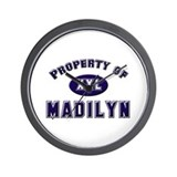 Property of madilyn Wall Clock