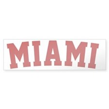 Miami Red BB Bumper Sticker