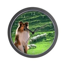 Irish Blessing Sheltie Wall Clock
