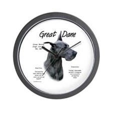Blue Great Dane Wall Clock