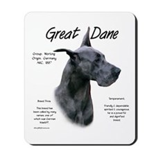 Blue Great Dane Mousepad