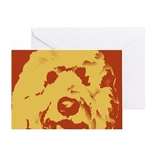 labradoodle_border Greeting Card