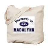 Property of madalynn Tote Bag