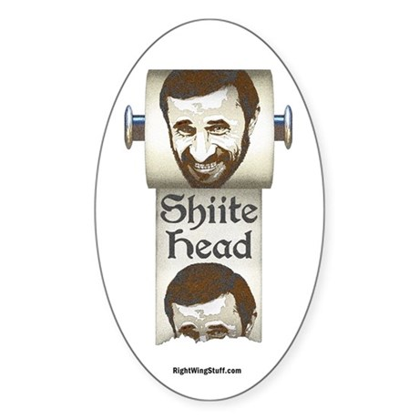 Shiite Head Oval Sticker