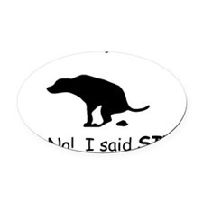 sit 60 Oval Car Magnet