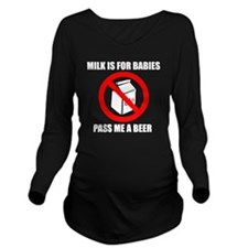 No Milk with writing Long Sleeve Maternity T-Shirt