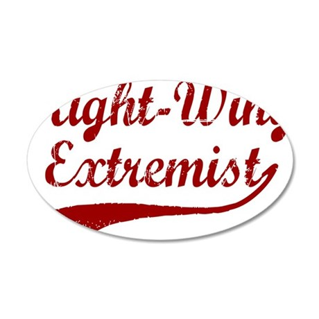 Right-Wing-Extremist-(cursiv 35x21 Oval Wall Decal