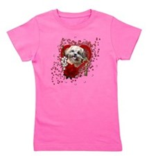 Valentine_Red_Rose_ShihPoo_Maggie Girl's Tee
