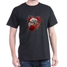 Valentine_Red_Rose_ShihPoo_Maggie T-Shirt