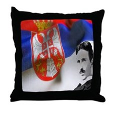 TeslaShirt Throw Pillow