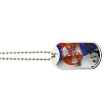 Serbia Flag w Tesla Dog Tags