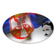 Serbia Flag w Tesla Decal