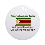Good Lkg Zimbabwean Twin Ornament (Round)