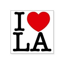 "I Love LA Square Sticker 3"" x 3"""