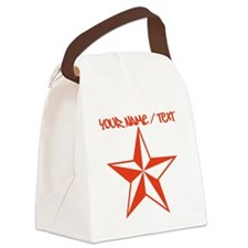 Red Star Tattoo Canvas Lunch Bag