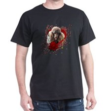 Valentine_Red_Rose_Poodle_Chocolate T-Shirt