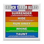 French Terror Alert Tile Coaster